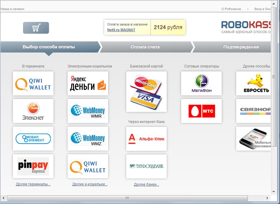 Как сделать оплату банковской картой на сайте - Шкаф и точка